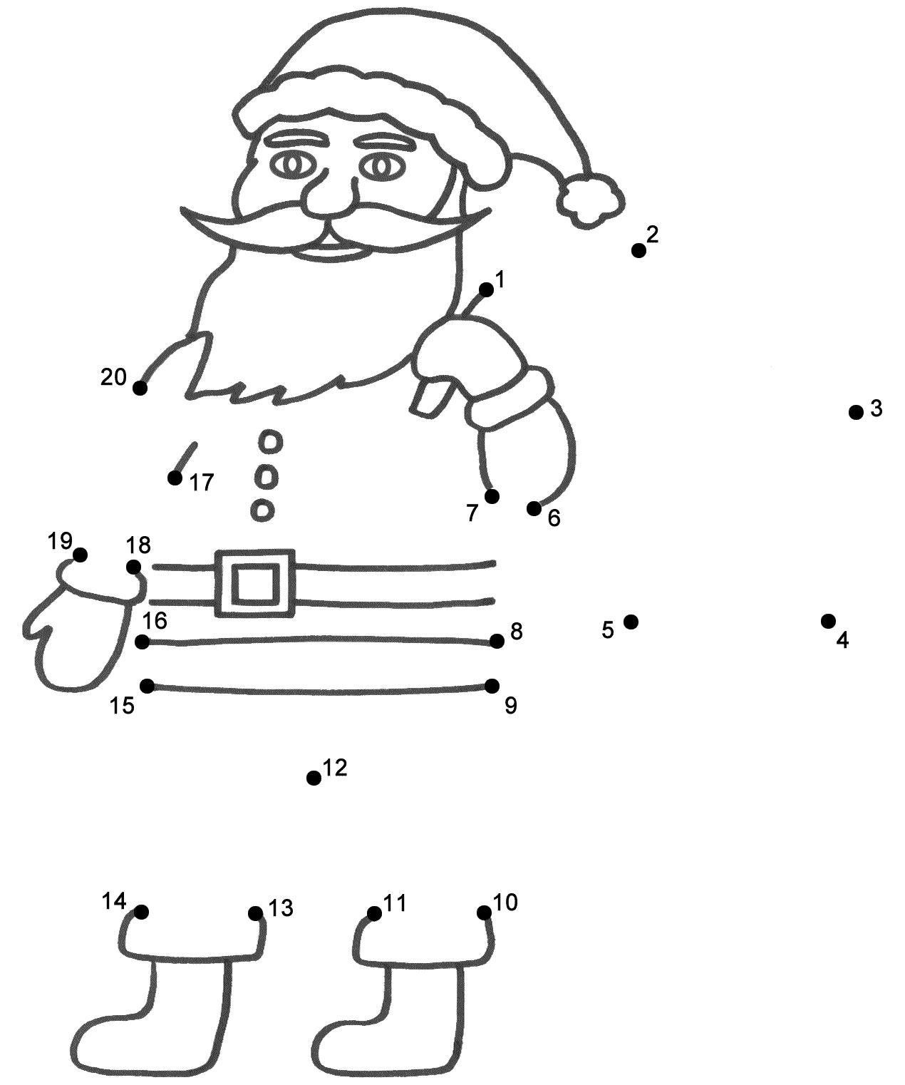 Christmas Dot To Dot Worksheets For Kindergarten