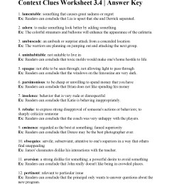 Context Clues Practice Worksheets   Printable Worksheets and Activities for  Teachers [ 2200 x 1700 Pixel ]