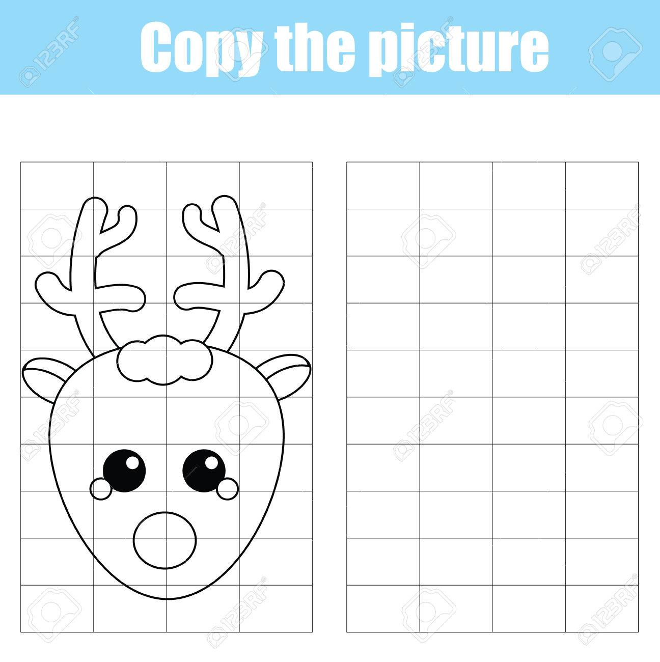 Christmas Grid Drawing Worksheets