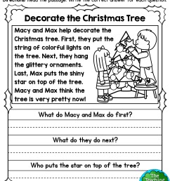 1st Grade Christmas Phonics Worksheet   Printable Worksheets and Activities  for Teachers [ 3300 x 2550 Pixel ]