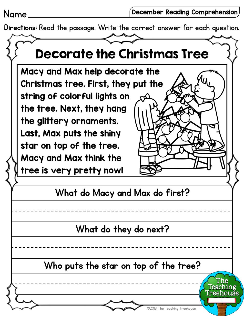 medium resolution of 1st Grade Christmas Phonics Worksheet   Printable Worksheets and Activities  for Teachers