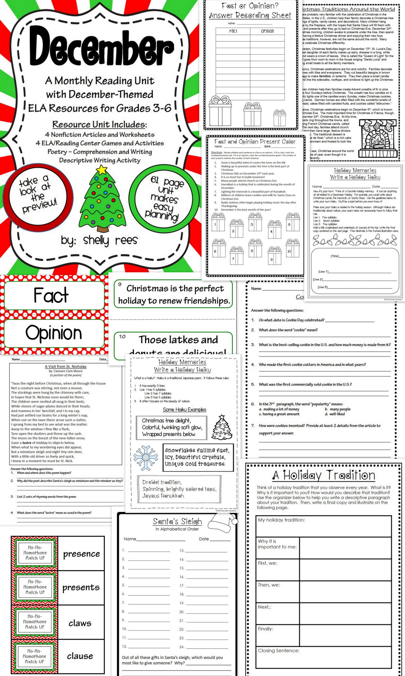 hight resolution of 3rd Grade Christmas Language Arts Worksheet   Printable Worksheets and  Activities for Teachers