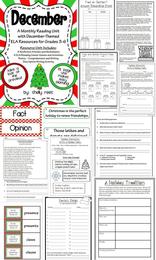 small resolution of 3rd Grade Christmas Language Arts Worksheet   Printable Worksheets and  Activities for Teachers
