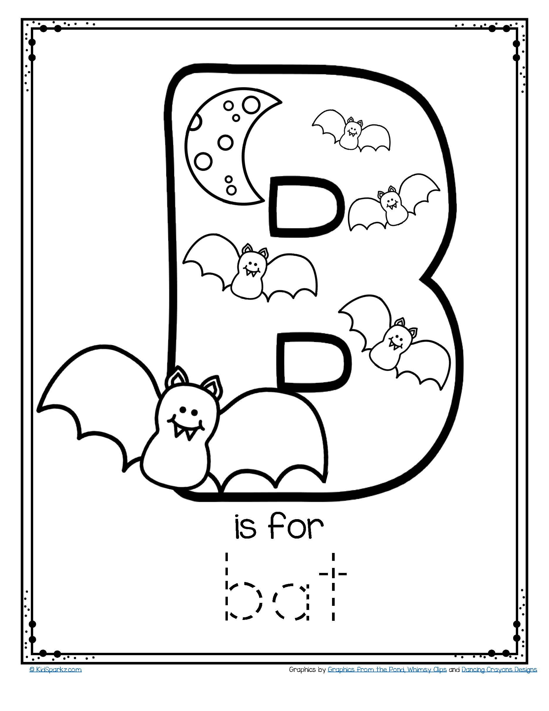 Halloween Letter C Worksheets Preschool