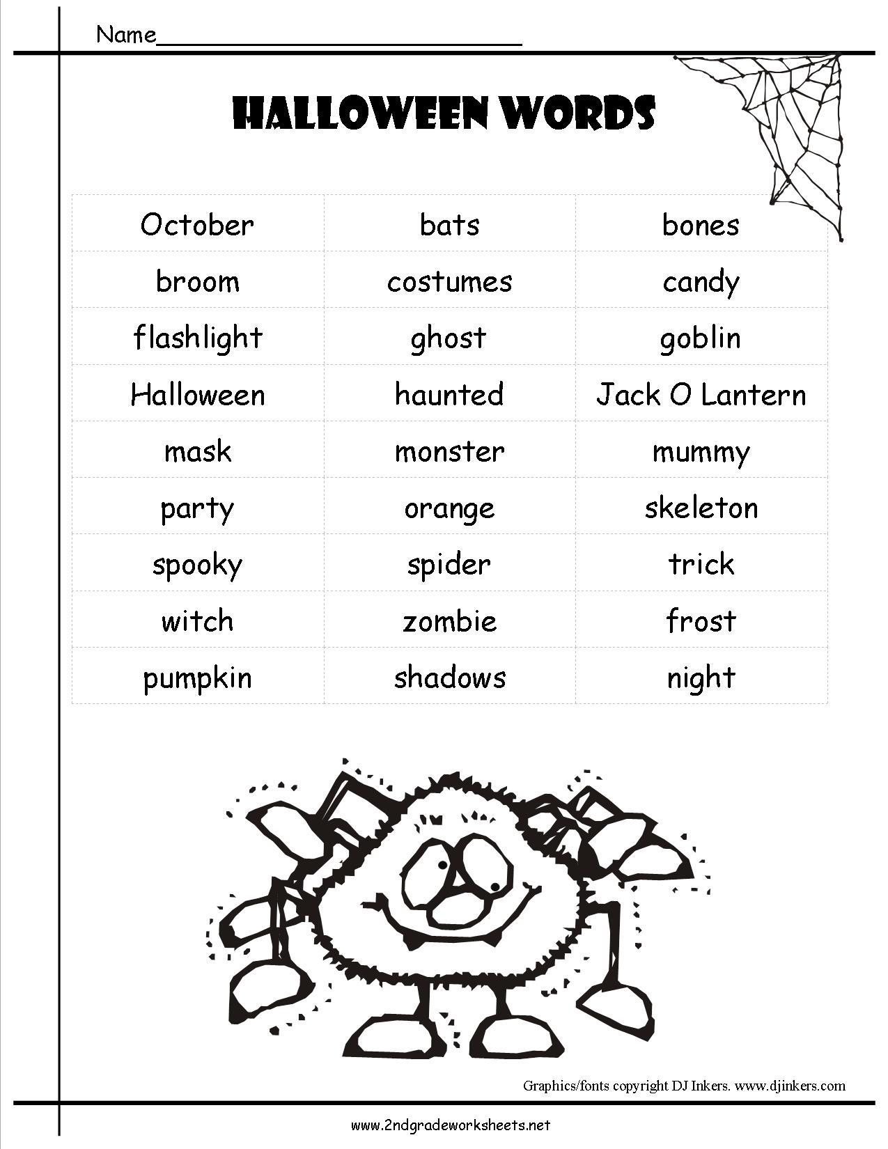 Halloween Worksheets 5th Grade