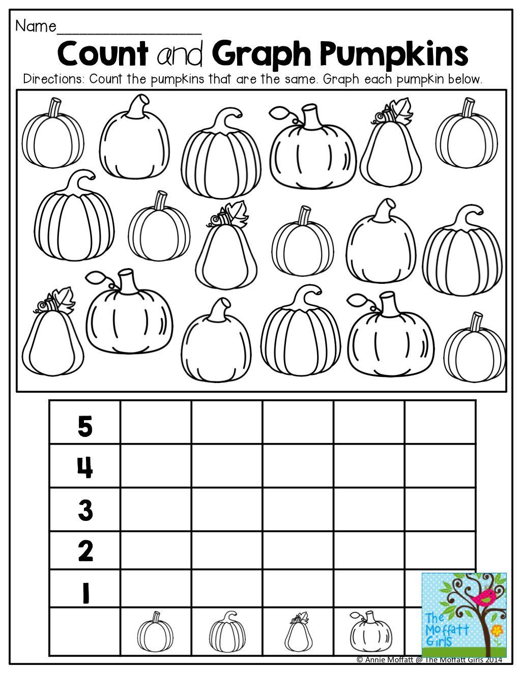 Halloween Graphing Worksheet Kindergarten