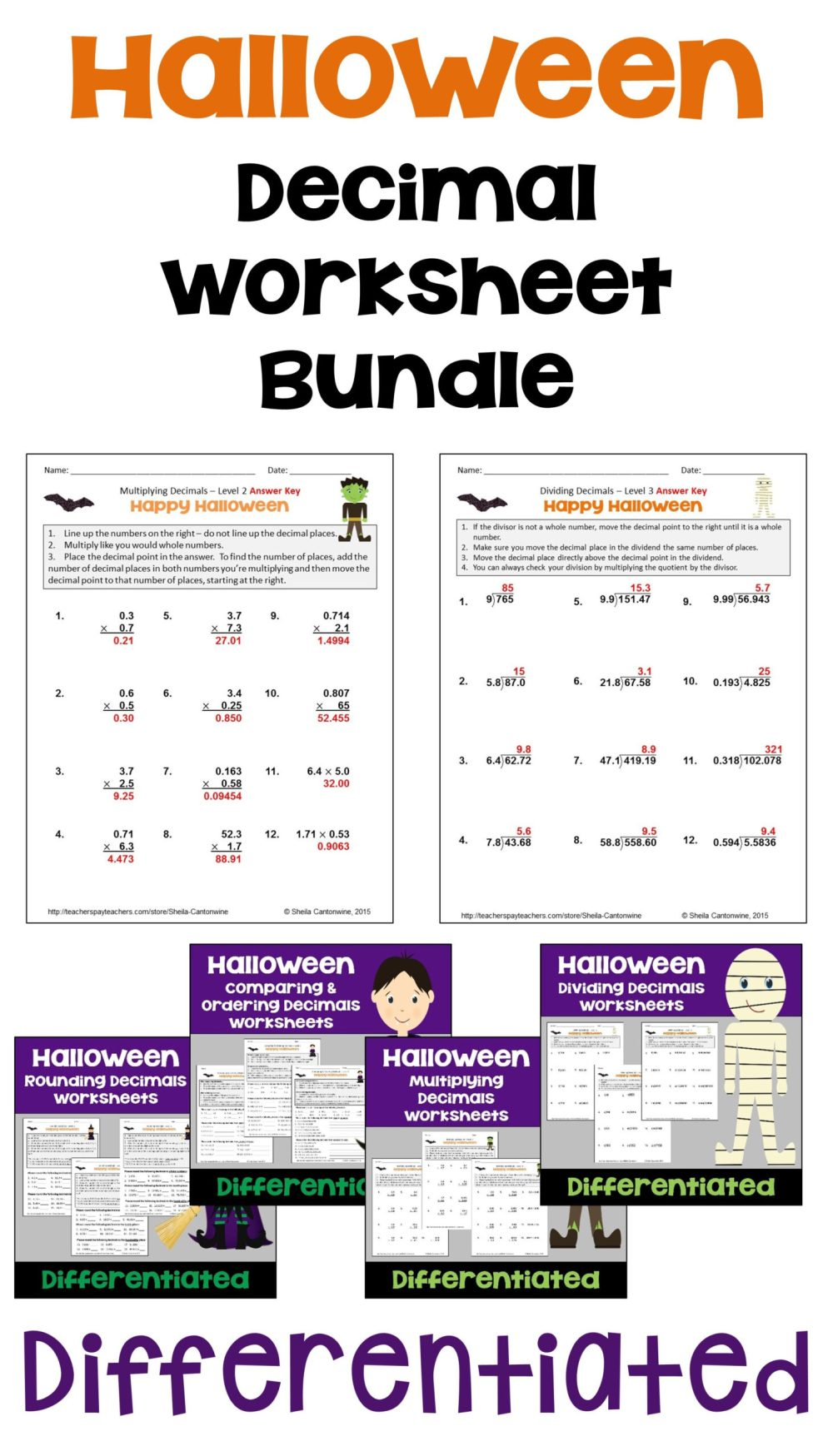 medium resolution of Halloween Math Worksheets   Printable Worksheets and Activities for  Teachers