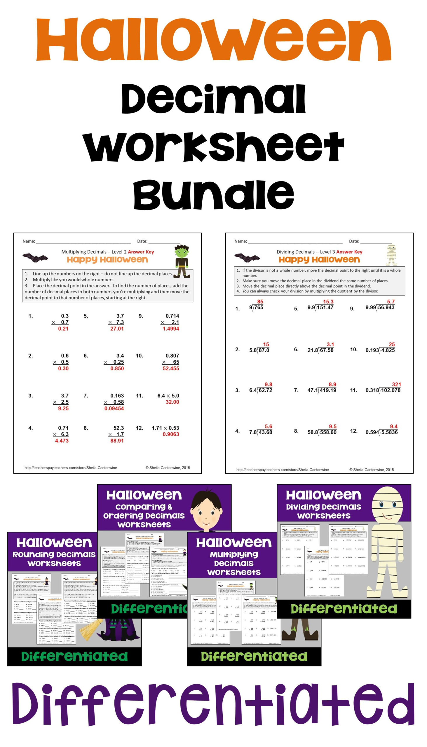 hight resolution of Halloween Math Worksheets   Printable Worksheets and Activities for  Teachers