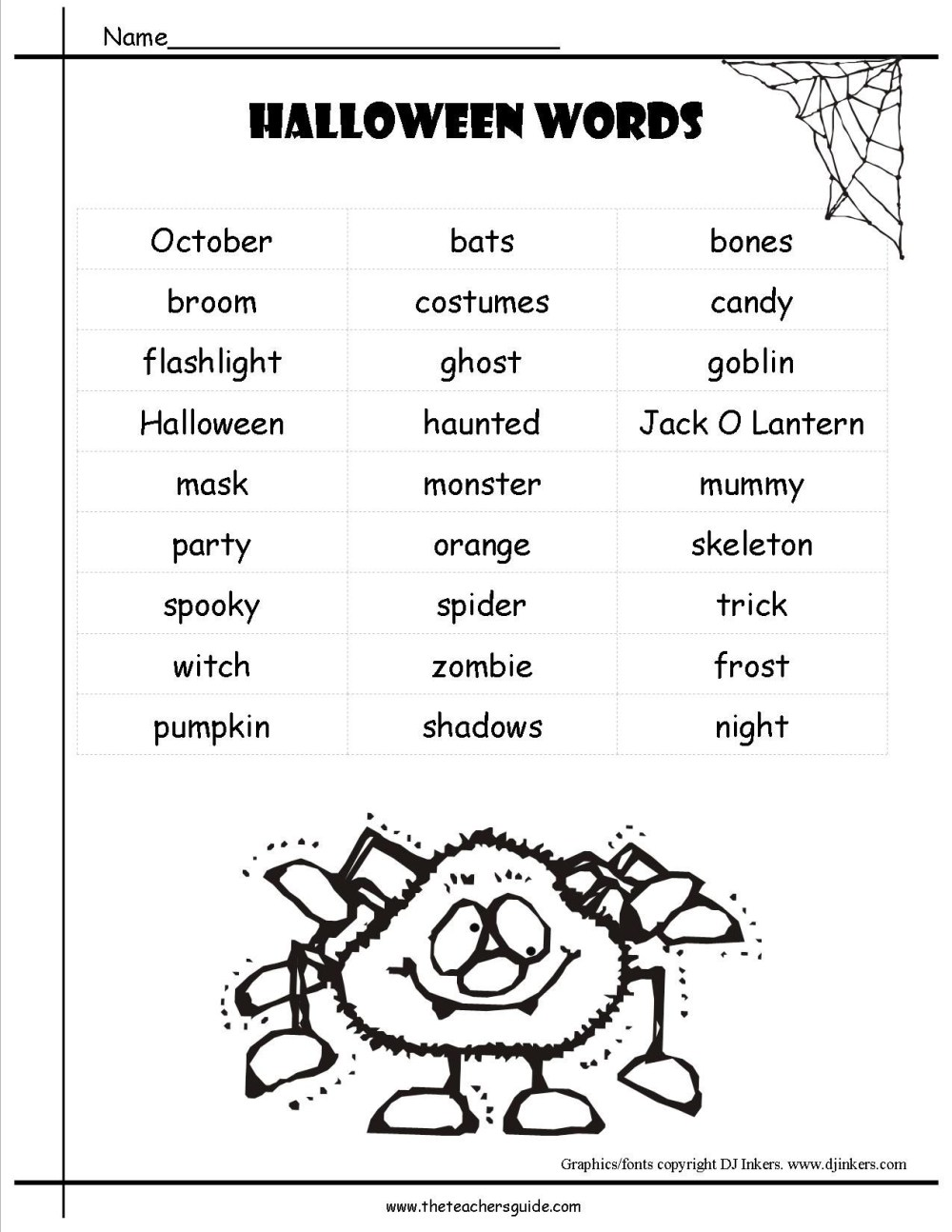 medium resolution of Halloween Adjective Worksheets 3rd Grade   Printable Worksheets and  Activities for Teachers