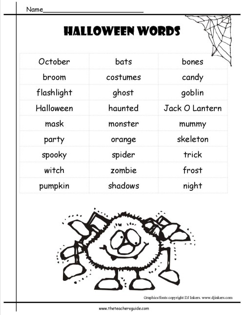 small resolution of Halloween Adjective Worksheets 3rd Grade   Printable Worksheets and  Activities for Teachers