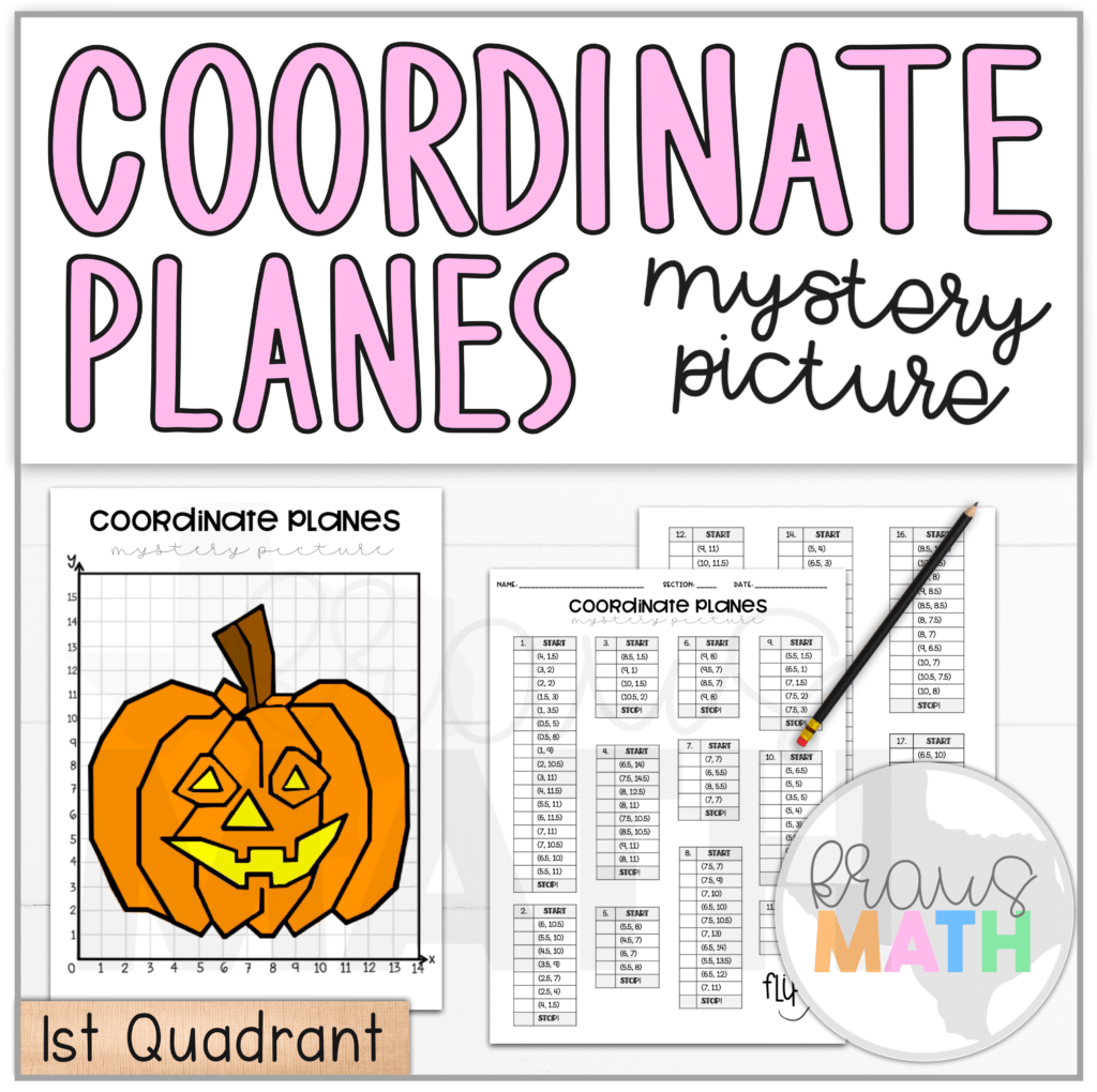 Easy Coordinates Worksheets For Hallowen