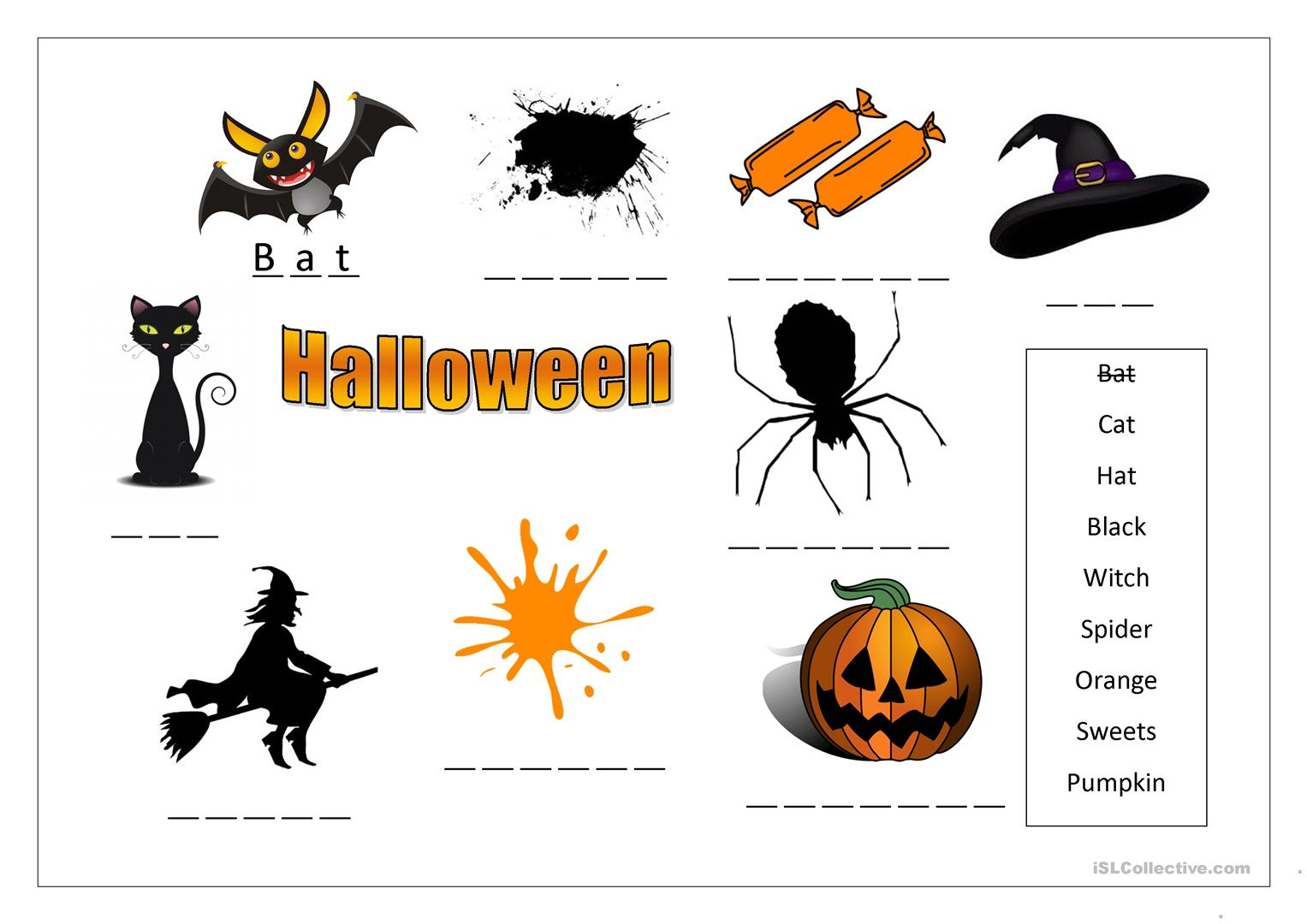 Halloween Worksheets British Council
