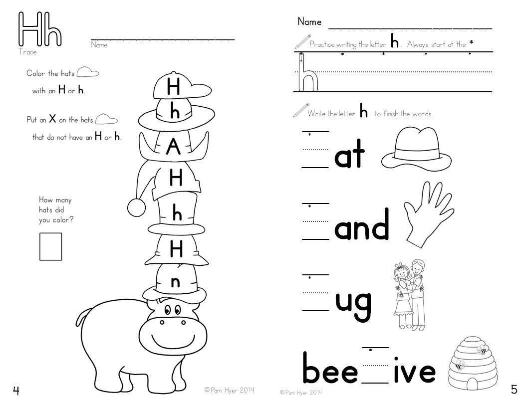 Letter H Worksheets For Preschool