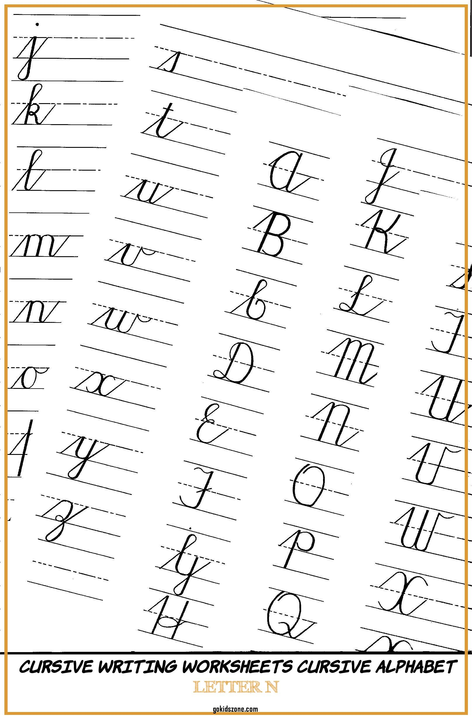 Calligraphy Alphabet Practice Sheets Printable