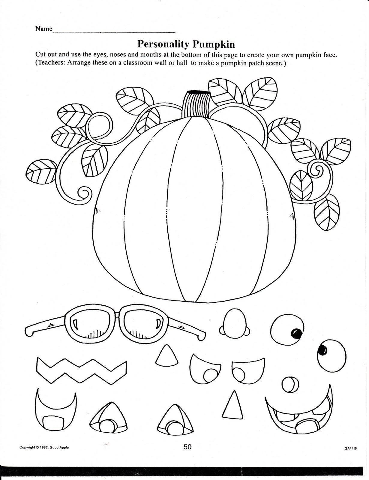 Printable Halloween Worksheets For Preschoolers