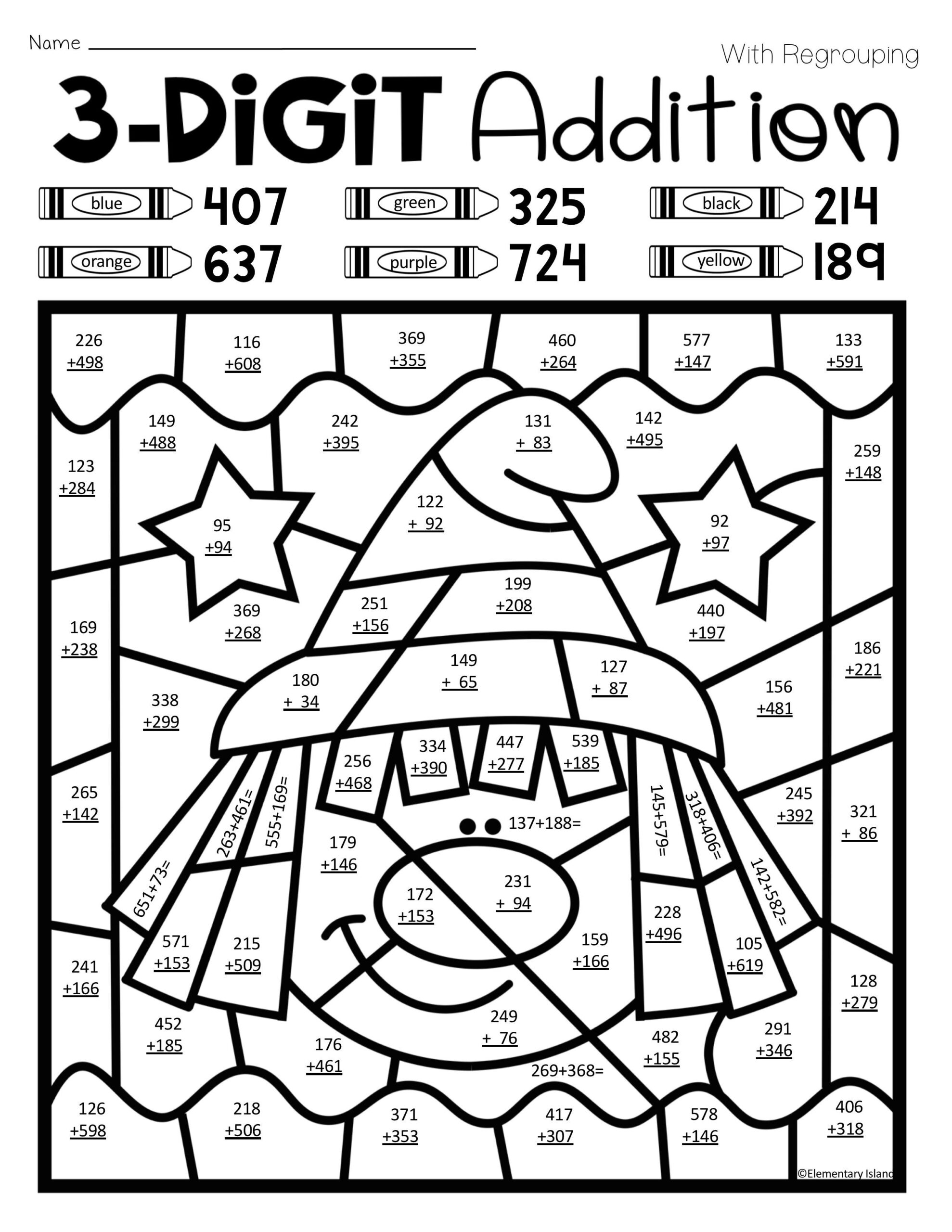 3rd Grade Halloween Math Worksheet Four Operations