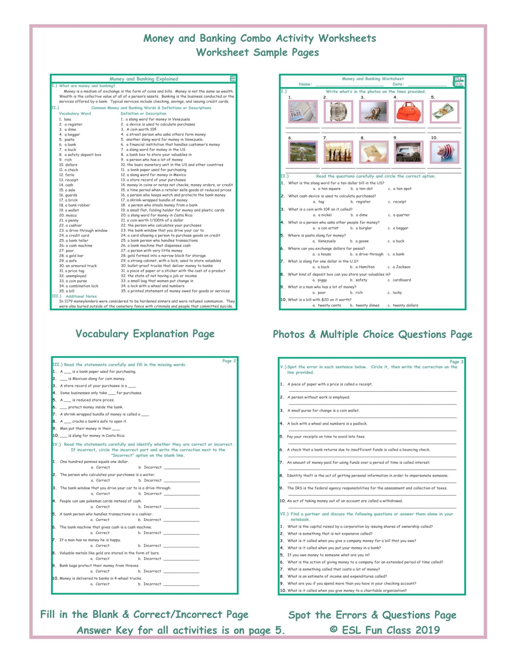 Bank On It Worksheet Christmas Answers