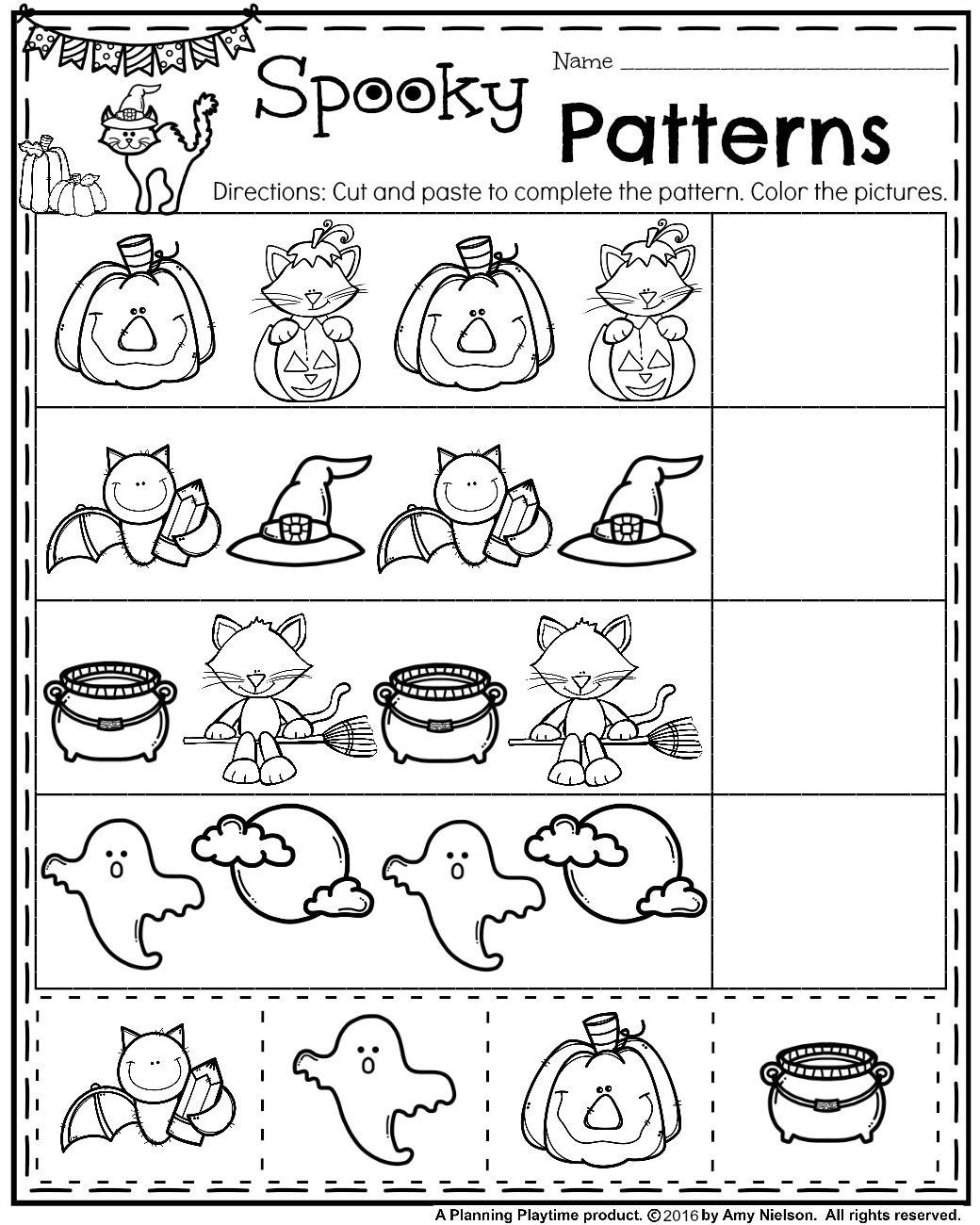 Halloween Worksheets Printables For Preschool