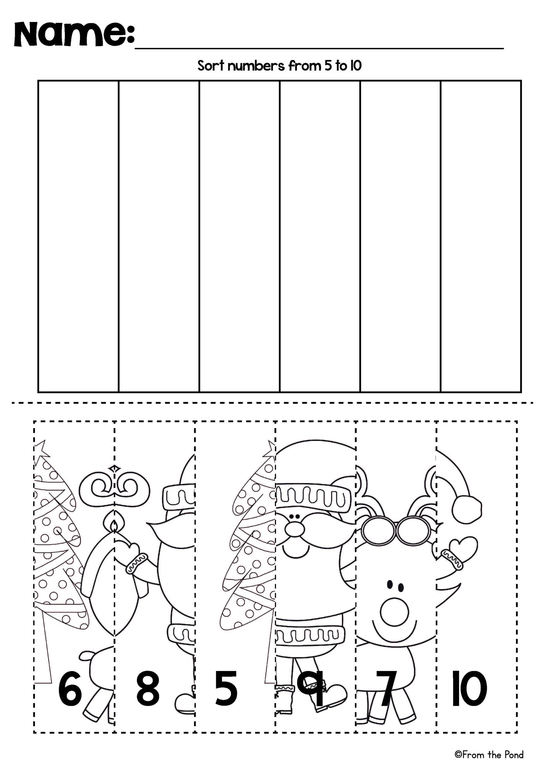 Cut And Paste Christmas Worksheets