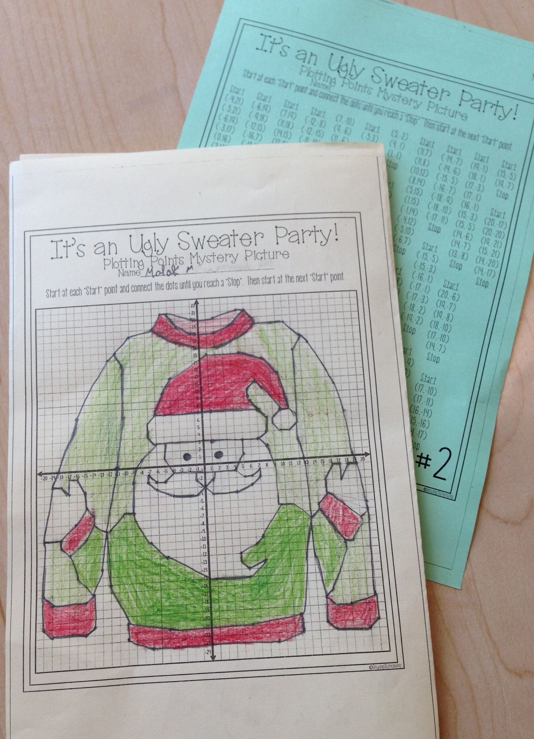 Amazing Mathematics Plotting Point Ugly Christmas Sweater