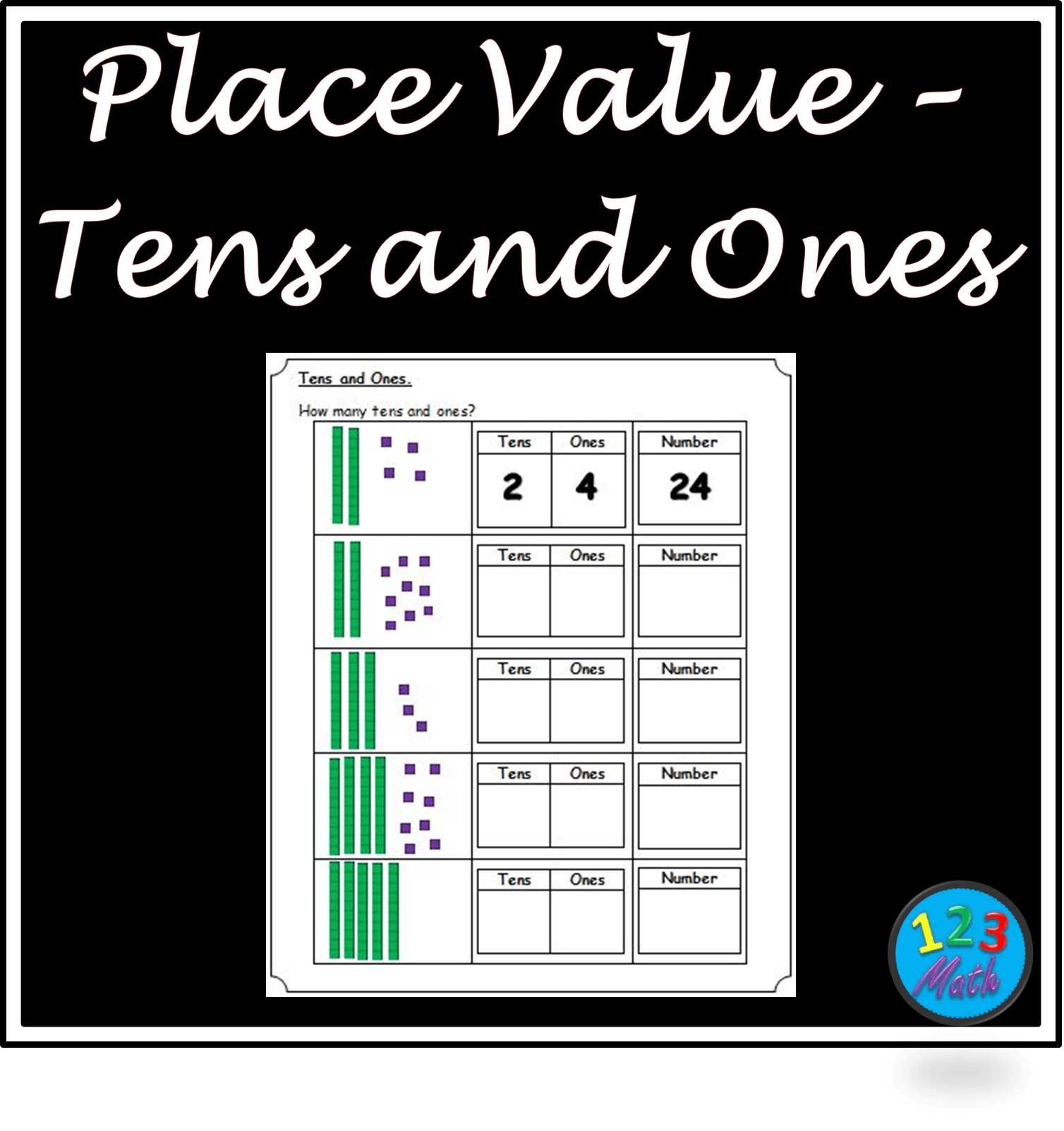 1s And 10s Place Value Halloween Worksheets