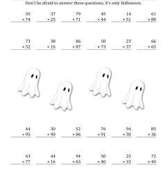 3rd Grade Halloween Math Coloring Worksheets   Printable Worksheets and  Activities for Teachers [ 1584 x 1224 Pixel ]