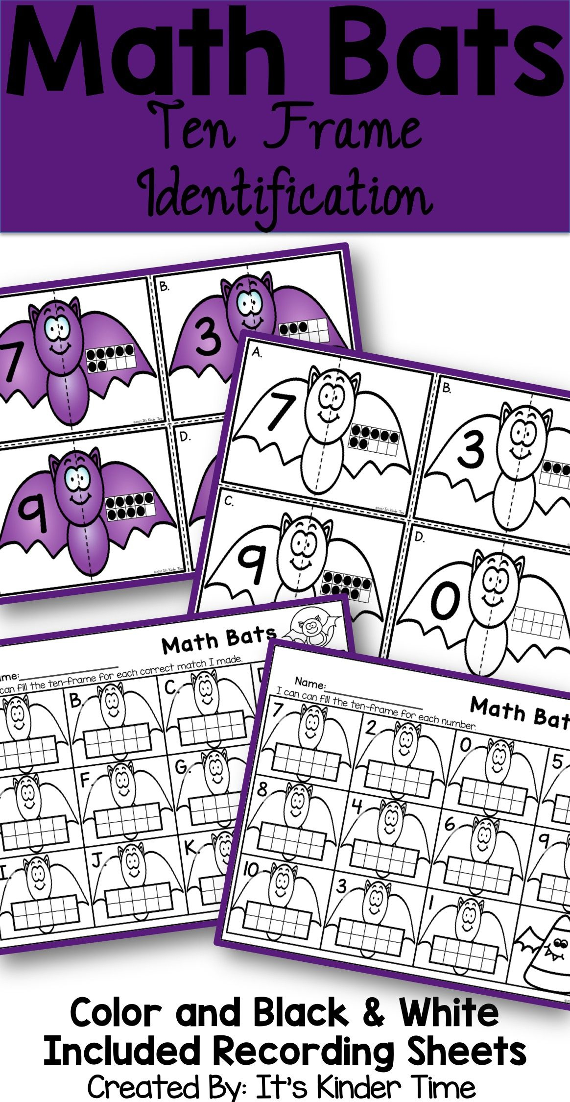 1s And 10s Halloween Worksheets