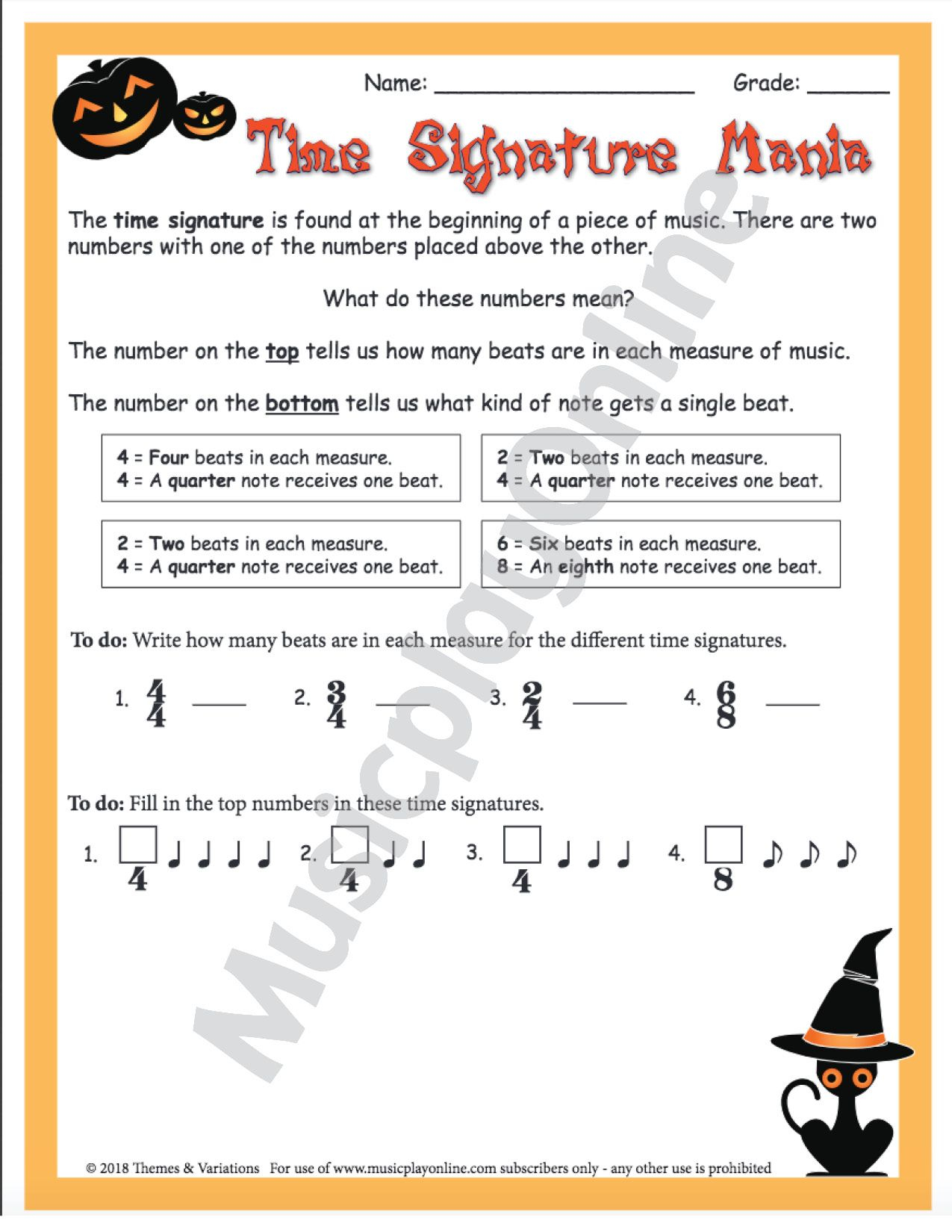 5th Grade Halloween Themed Worksheets