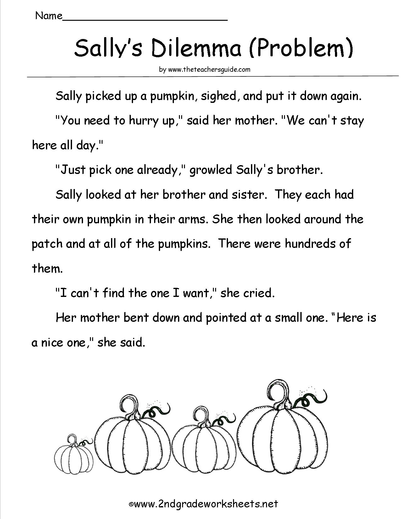 Halloween Reading Comprehension Worksheets For Third Grade