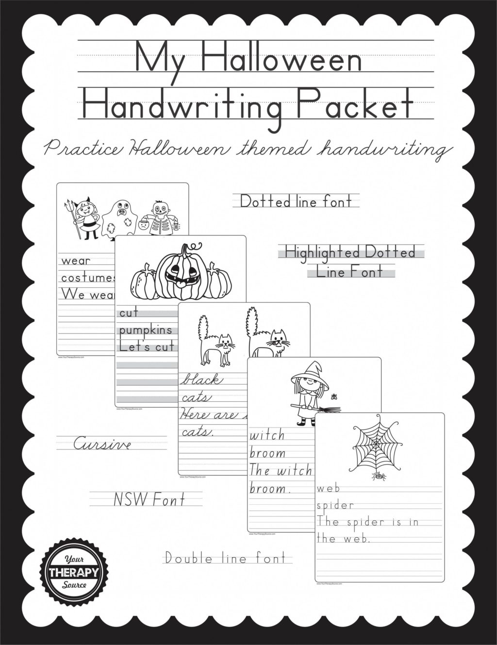 Middle School Halloween Worksheets