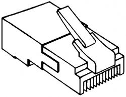 Alpha Communications™ 109528 DUMMY PLUG-W/BUTTON--RJ45 TYPE