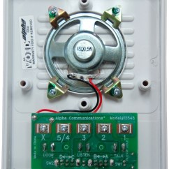Omron 24v Relay Wiring Diagram For Huskee Lawn Tractor 24vdc Www Toyskids Co Alpha Communications U2122 Is543 Quot Universal Intercom Station Circuit