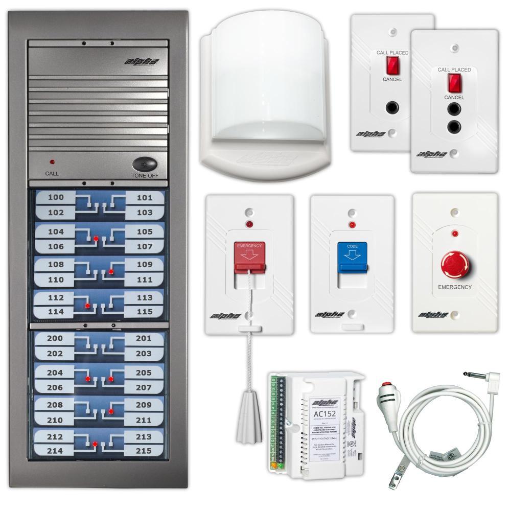 medium resolution of alphalinq 100 series audible visual nurse call system u l 1069