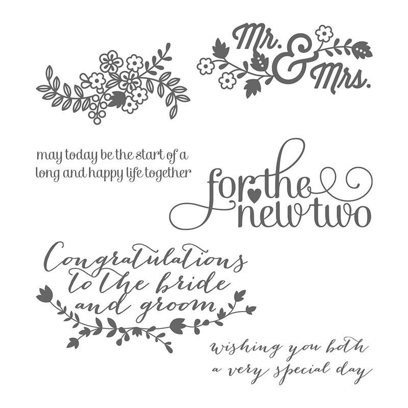 For The New Two Clear-Mount Stamp Set from Stampin' Up