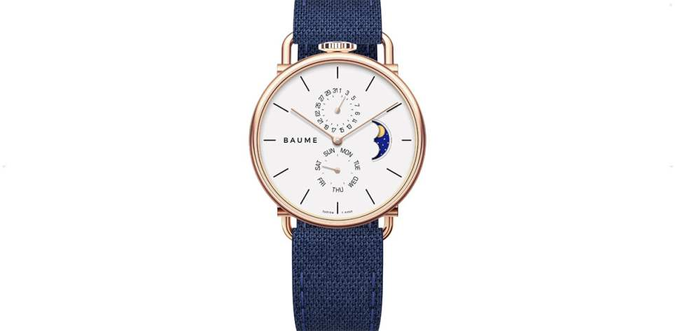 Baume Moonphase Nice Watch for Men