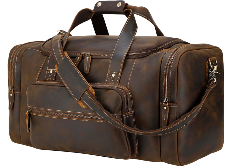 Polare Leather Weekender Bag
