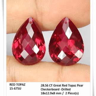GemRock-Wellness_28.56ct. Red Topaz_A pair_981
