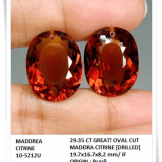 gemstones_GemRock-Wellness_29.35 Ct. Oval Dazzling Madeira Citrine Briolette_A pair_764