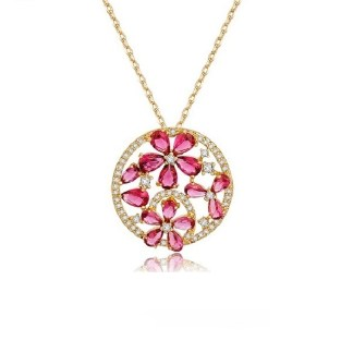 Uniquely-yours-round-mirco-red-cubic-zircon-flower-1741