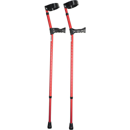 Double Adjustable Forearm Crutch With Anatomical Handle