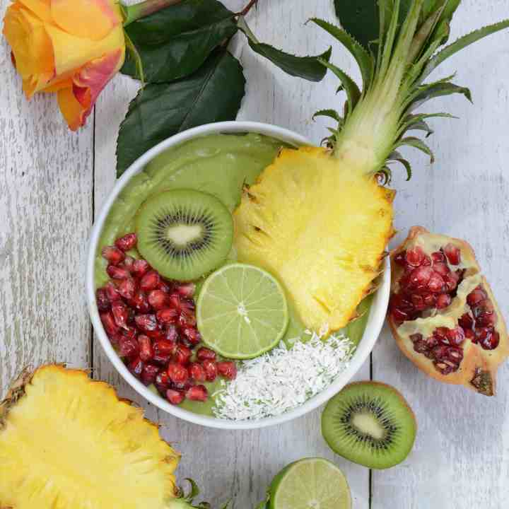 Loaded Tropical Green Smoothie Bowl