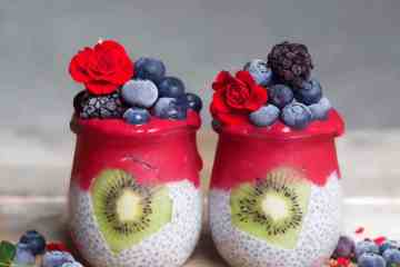 Valentines red chia pudding recipe