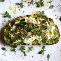 Avocado, labneh & zaatar breakfast toast