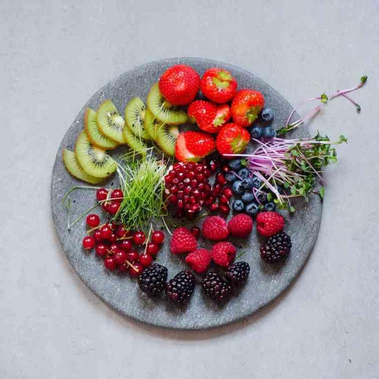 granola cups yogurt berries edible flowers