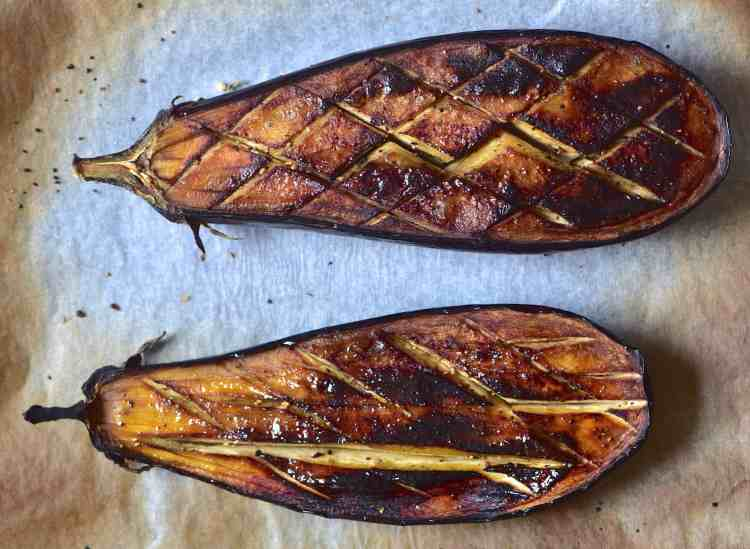 roasted / baked aubergine