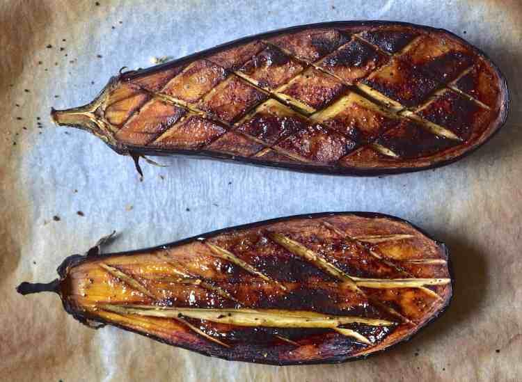 roasted / baked aubergine