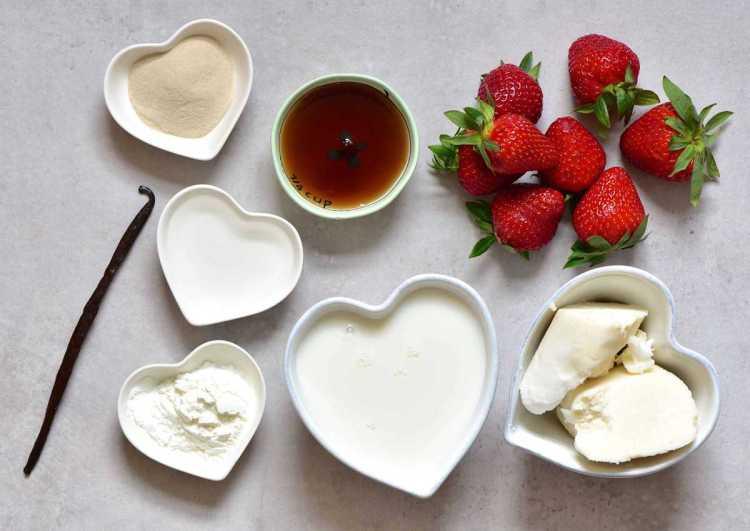 Rose Water Strawberry tart filling ingredients