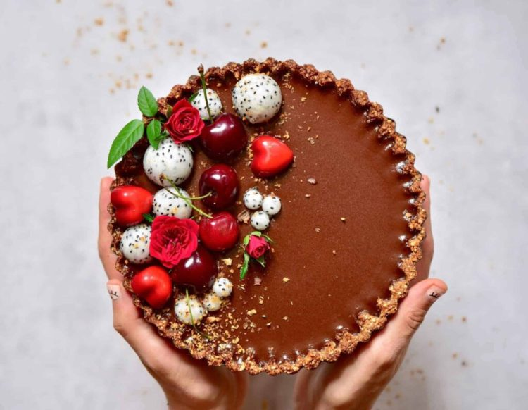 Vegan Chocolate Cherry Tart Recipe