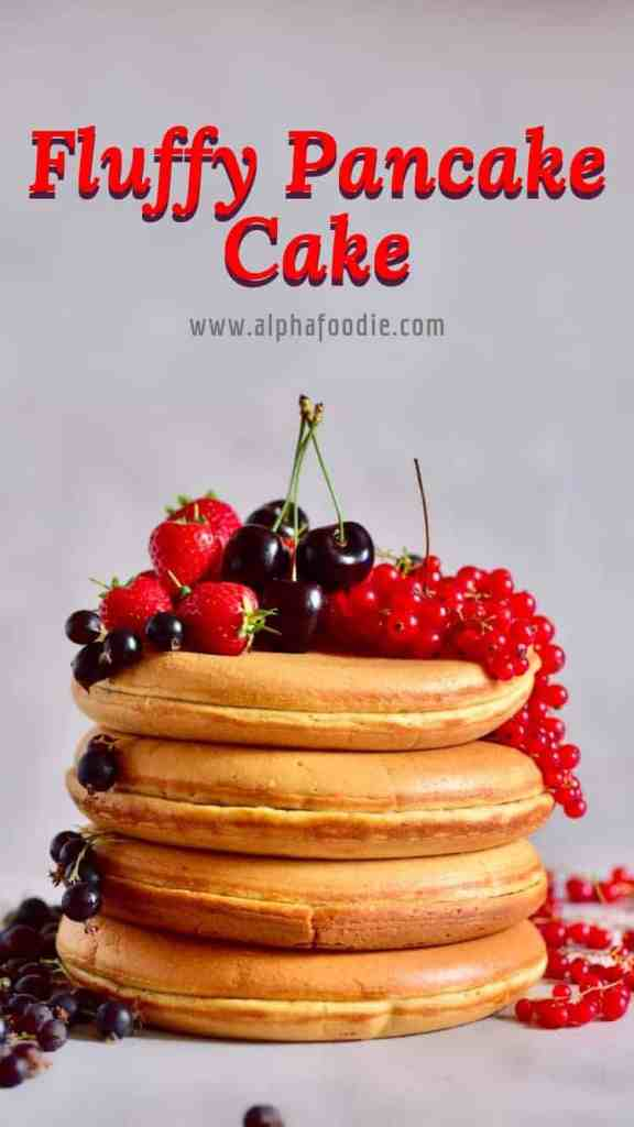 Fluffy Pancake Cake Recipe