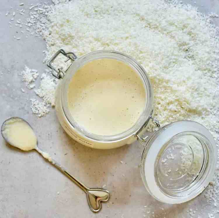 how to make coconut butter. 1 ingredient organic coconut butter. 10 minutes. vegan, refined sugar-free, dairy-free.